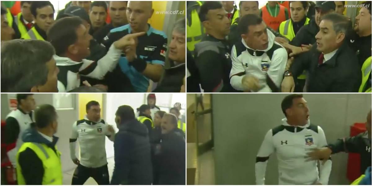 Con duros insultos: La furiosa reacción de Guede y su cuerpo técnico contra Polic