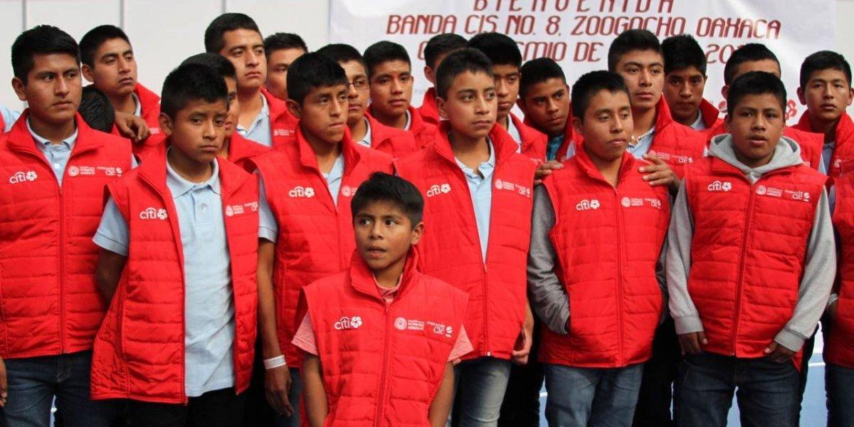 VIDEO: Grupo de niños oaxaqueños tocarán el Himno Nacional en GPMX