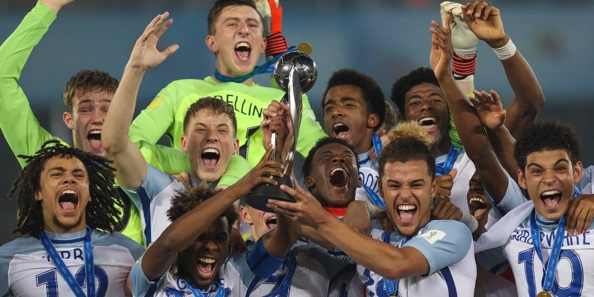 Un espectacular Inglaterra golea a España y es campeón del Mundial Sub 17