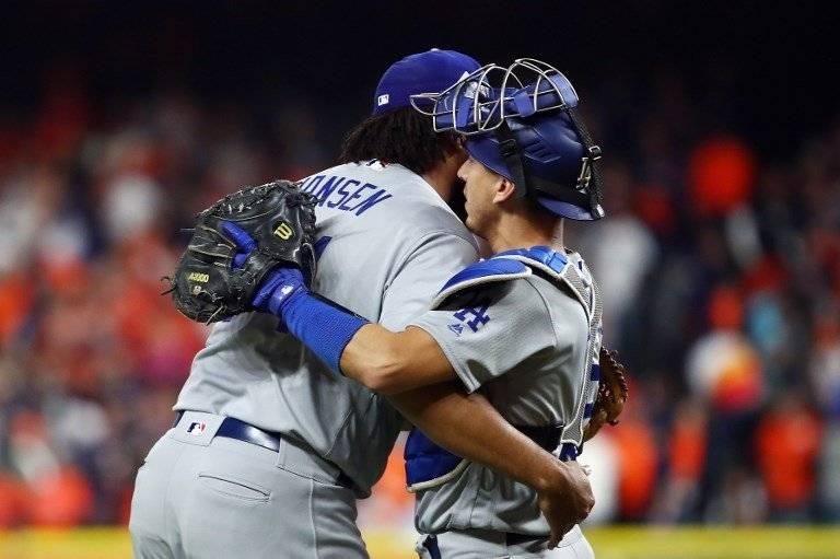 Dodgers celebran el empate en la Serie Mundial