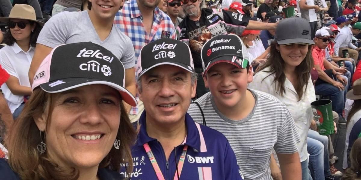 Zavala aprovecha la F1 para juntar firmas de apoyo a su candidatura