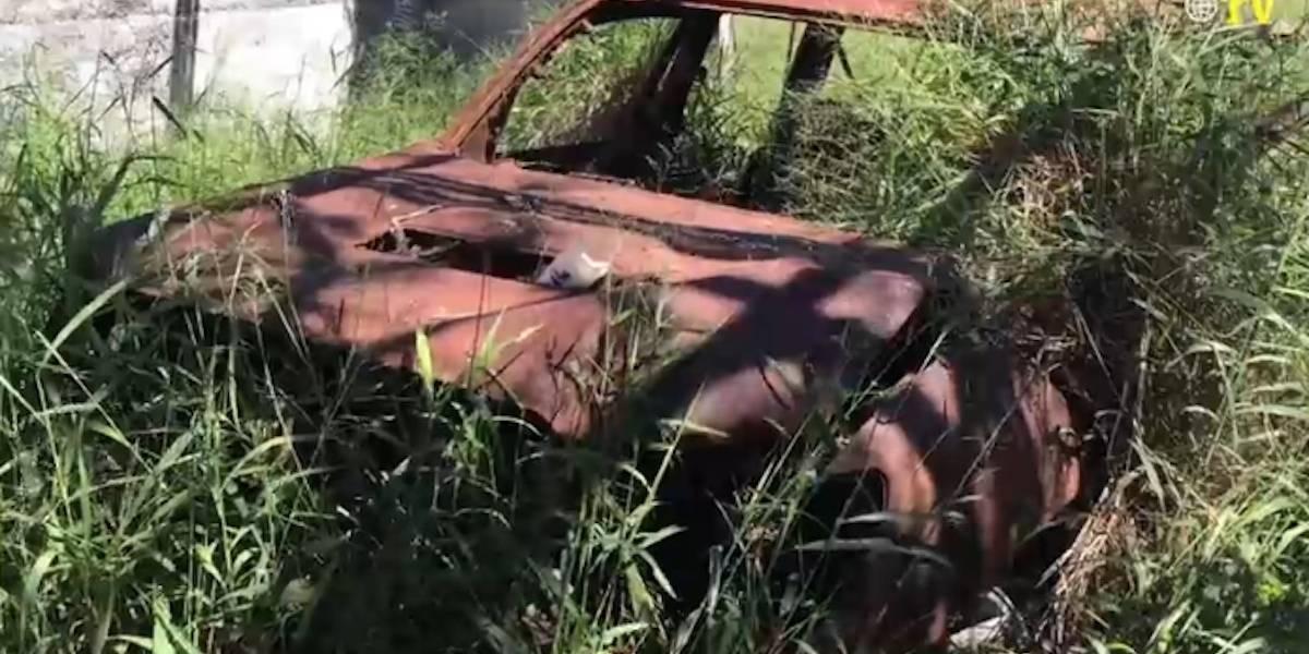 Abandonan y calcinan camioneta en rancho donde mataron 72 migrantes en San Fernando
