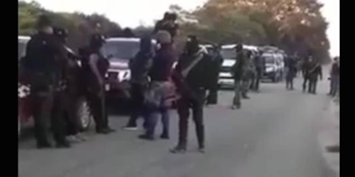 Acusan a la Policía Federal de custodiar a grupo armado en Oaxaca