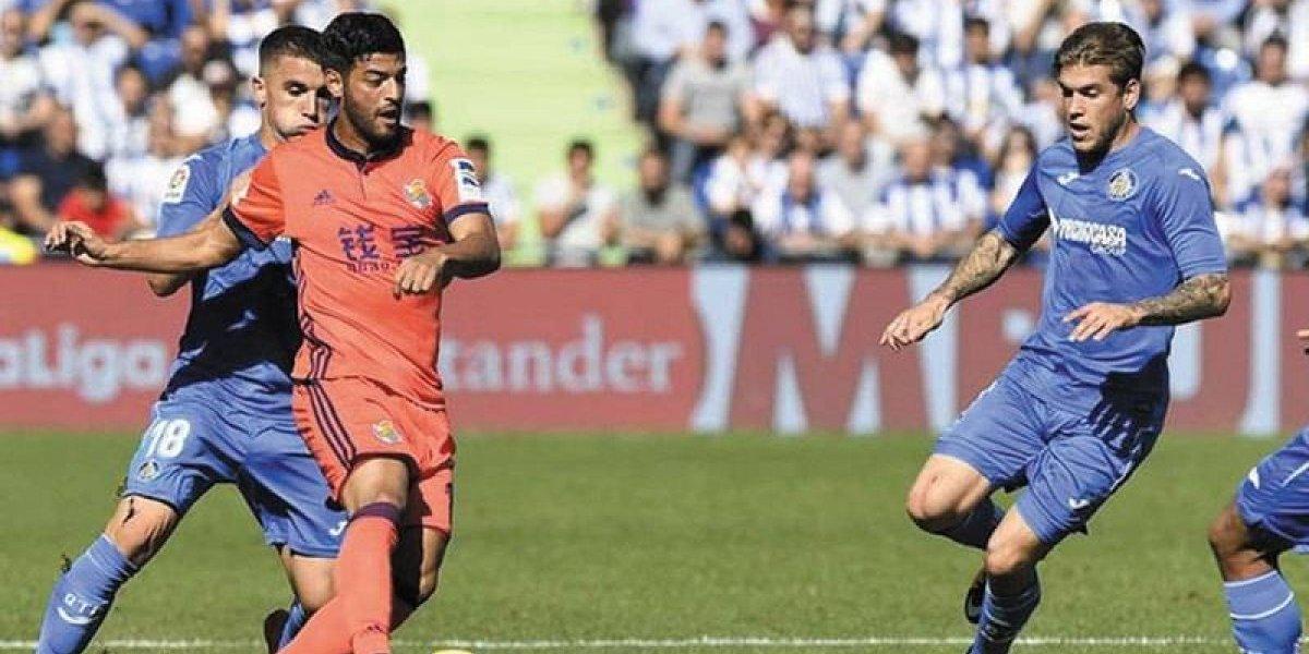 Real Sociedad sufre remontada ante Getafe con Carlos Vela en la cancha