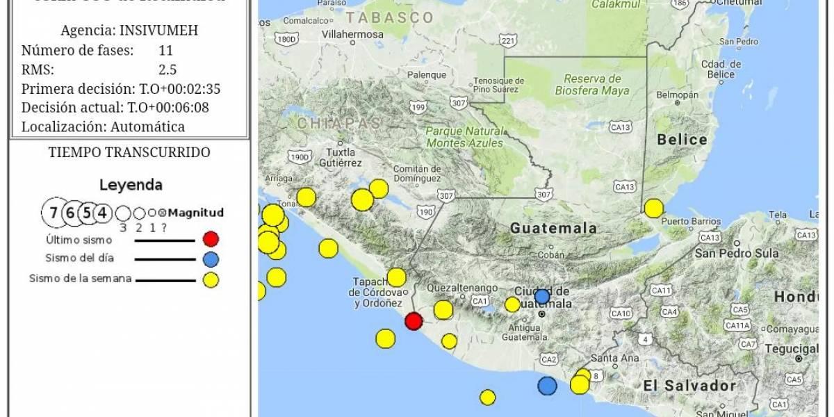 Sin daños materiales tras sismo en Retalhuleu