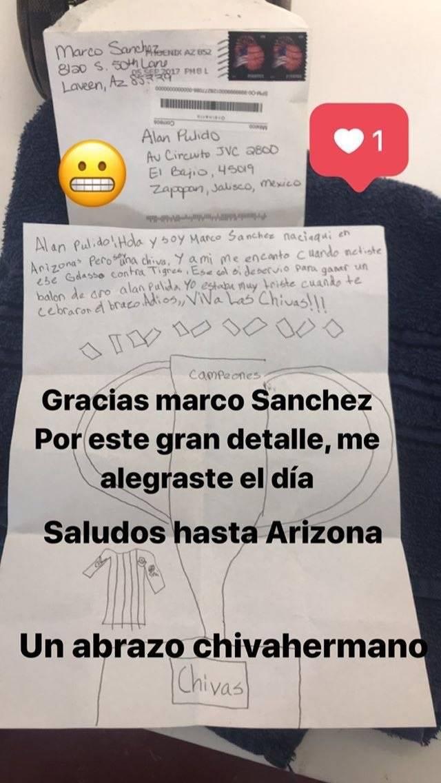 Emotiva carta de un niño a Alan Pulido
