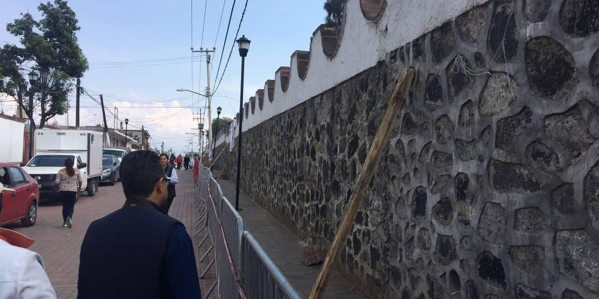 Reforzarán barda del Panteón de Mixquic ante Día de Muertos