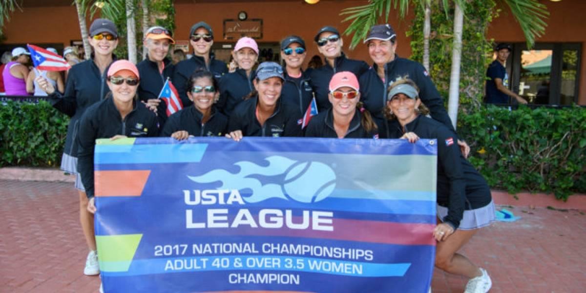 Equipo boricua adulto triunfa en campeonato de tenis