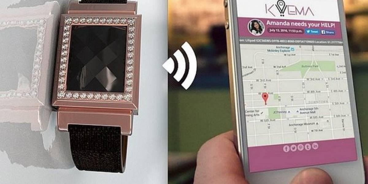 Lanzan pulsera inteligente con botón de pánico en México