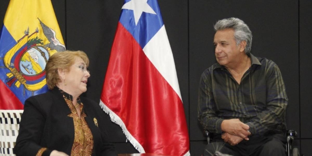 Lenín Moreno y Michelle Bachellet coinciden en la necesidad de estrechar las relaciones