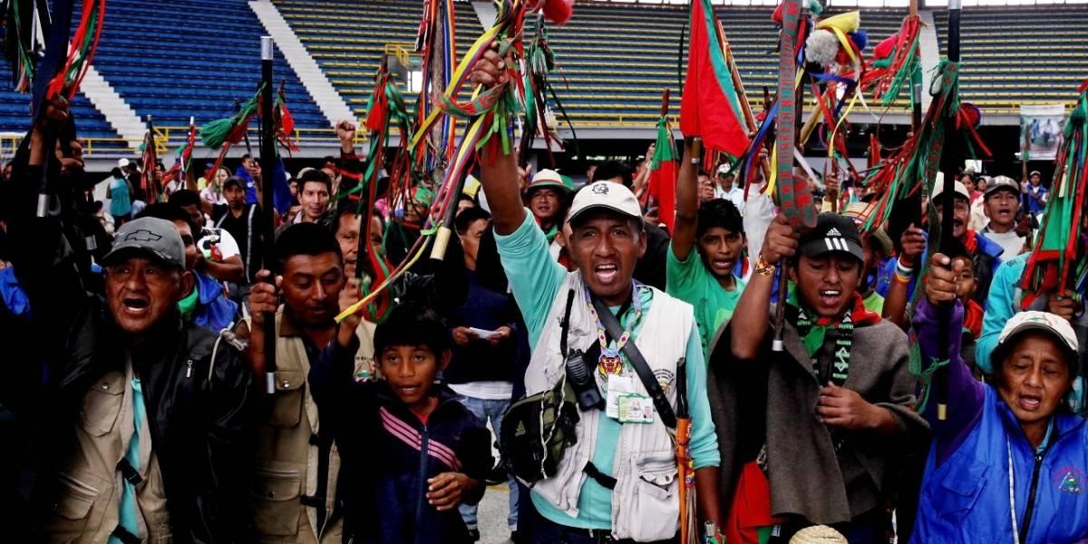 Inicia movilización de indígenas en diferentes partes del país