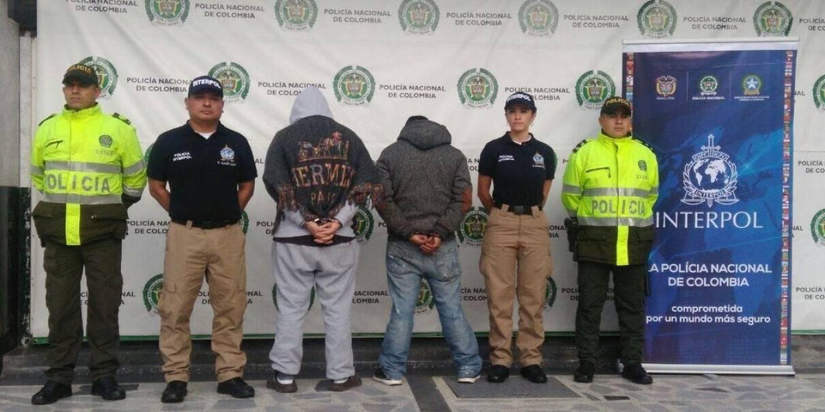 Detienen en Bogotá a cinco hombres buscados por Interpol