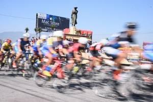 Los pedalistas en acción