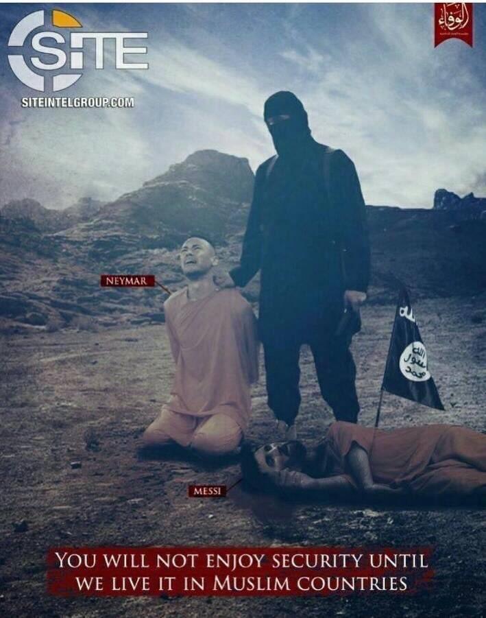 Isis aterra al futbol mundial