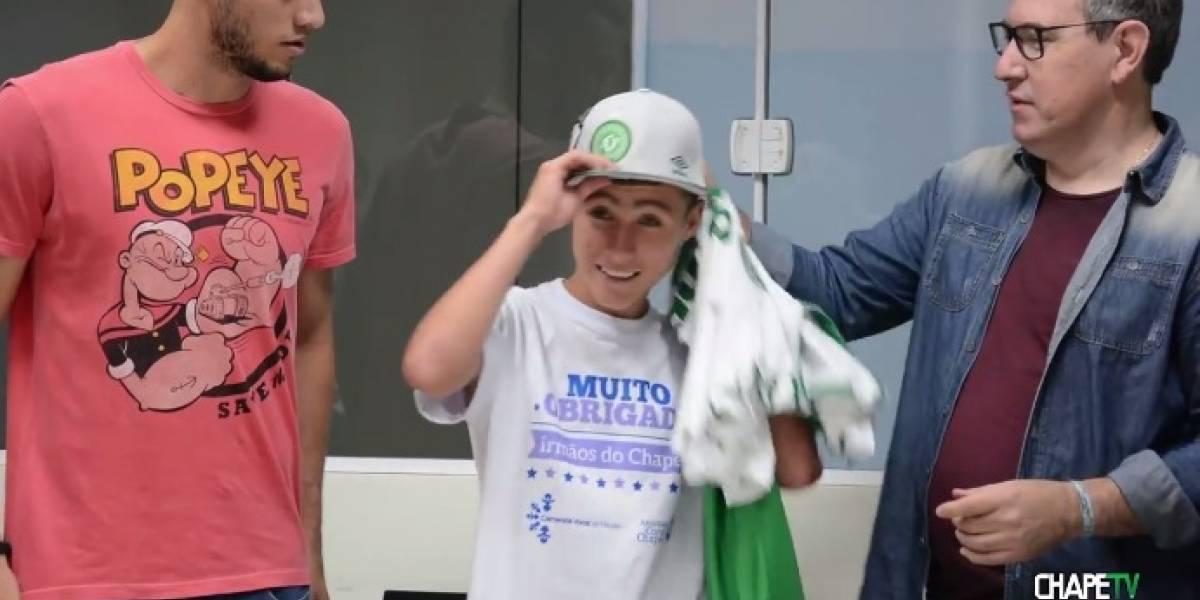 Rinden homenaje a Johan Alexis, el 'Niño Ángel' de Chapecoense, en Brasil