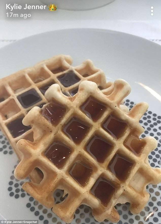 Kylie Jenner waffles