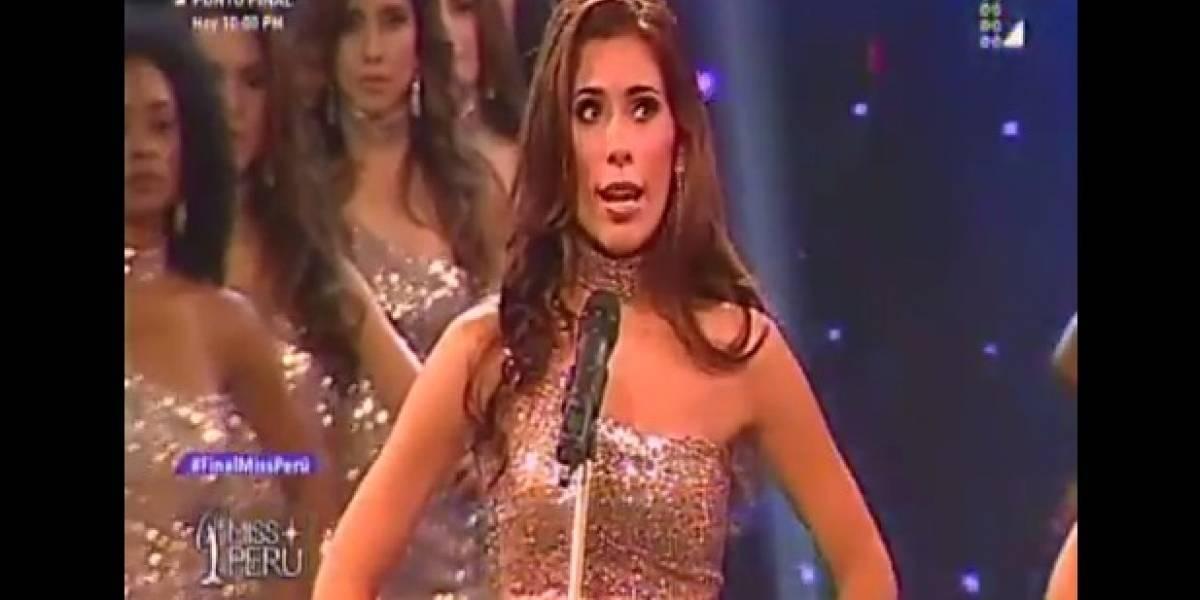 VIDEO. Concursantes de Miss Perú dan cifras de feminicidios en lugar de sus medidas