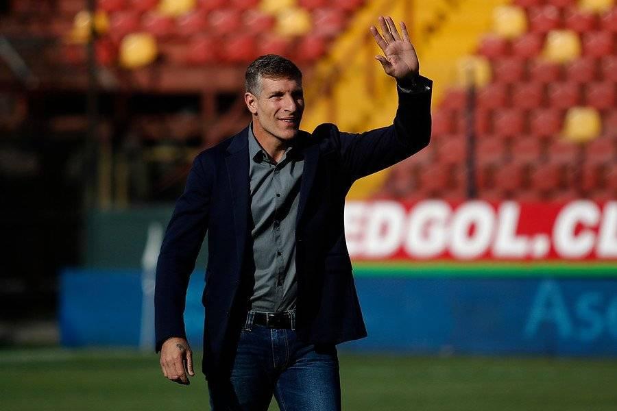 Martín Palermo tiene a Unión Española en lo más alto del torneo / imagen: Photosport