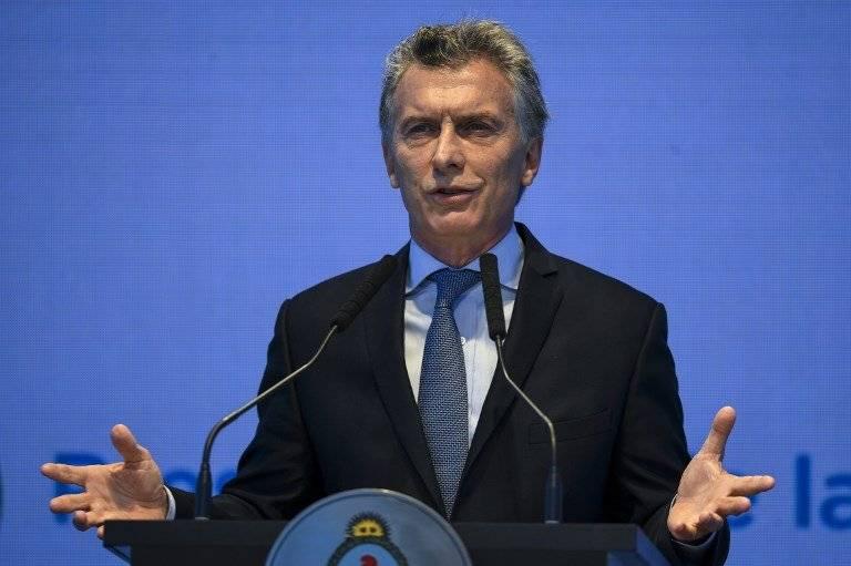 Mauricio Macri en un discurso