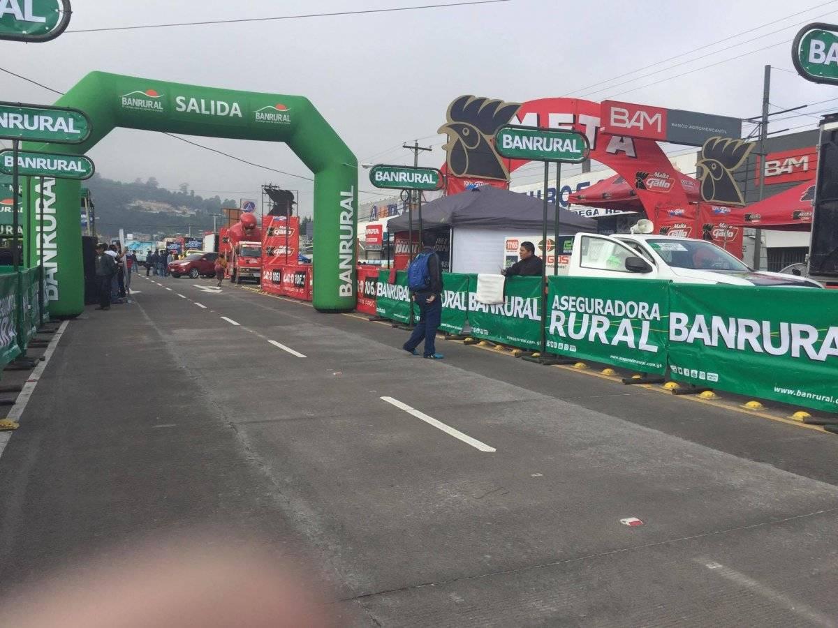 La salida de la octava etapa en Quetzaltenango