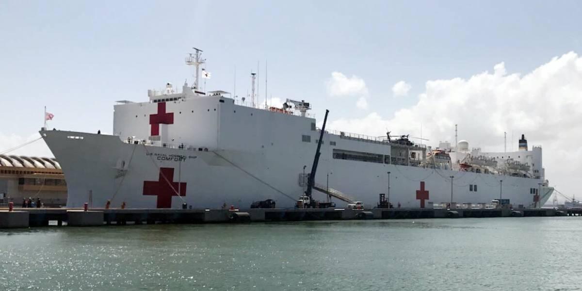 Llegan 150 pacientes en 24 horas al Comfort en muelle de San Juan