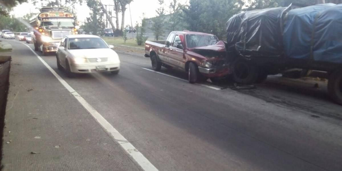 Habilitan carril reversible en ruta Interamericana tras accidente de tránsito