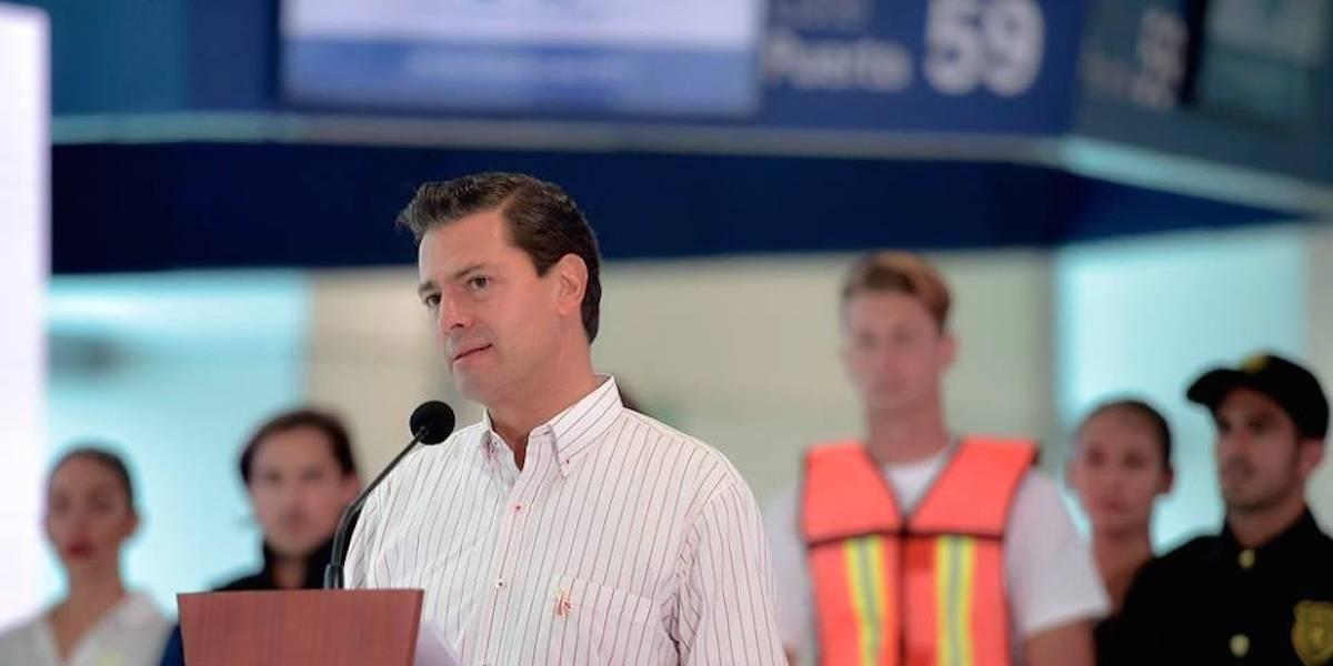 Aumento en llegada de turistas es señal de que el país crece: Peña Nieto