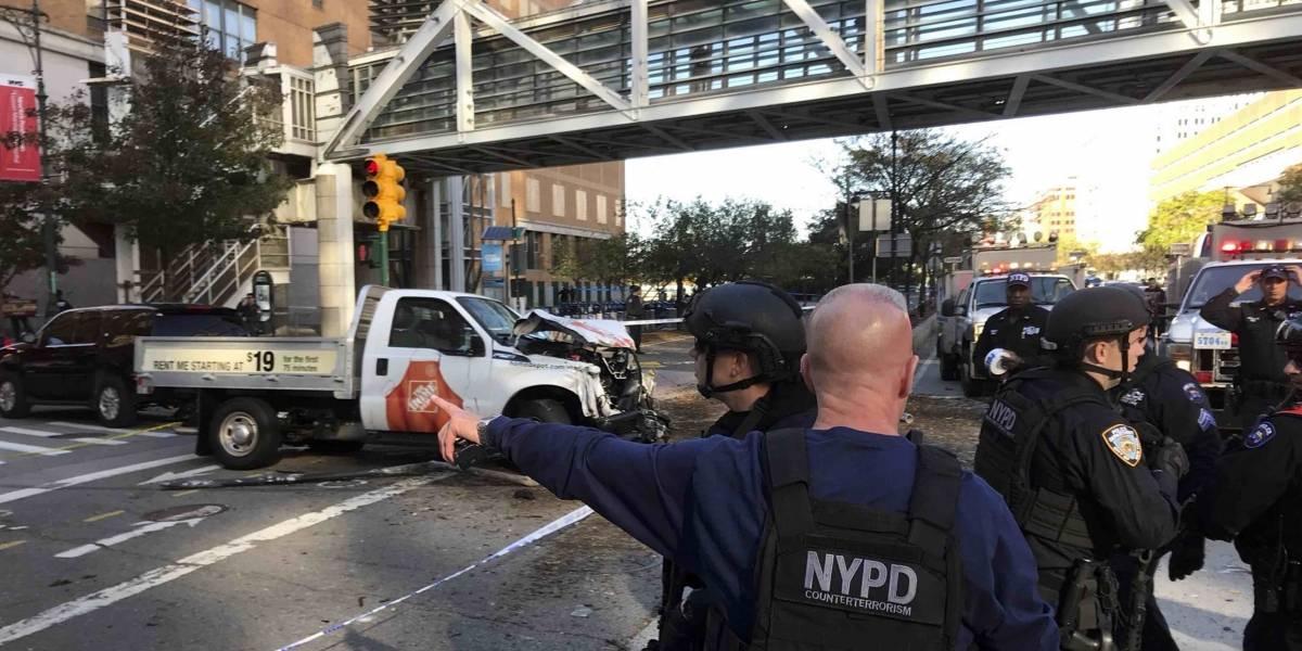 Las primeras imágenes del atropello múltiple en Nueva York