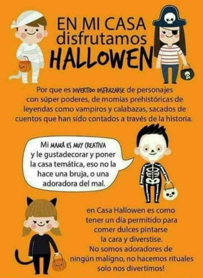 Mensaje sobre celebración de Halloween