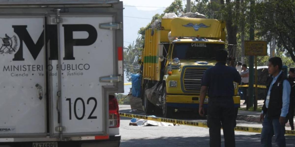 Muere piloto de camión recolector de basura tras ataque armado en Nimajuyú