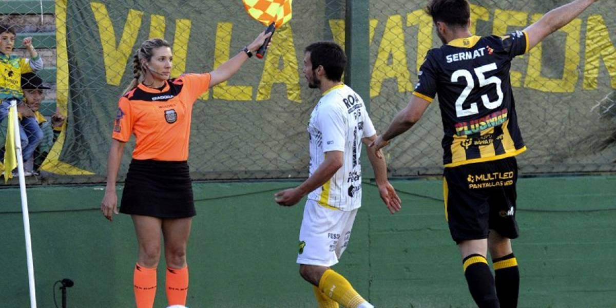 VIDEO. Hermana de árbitro debuta como jueza asistente en Superliga argentina