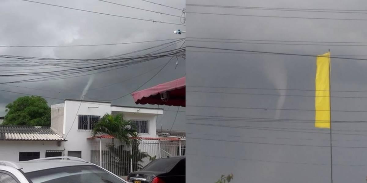 En video quedó registrado un tornado que causó pánico en pueblo colombiano