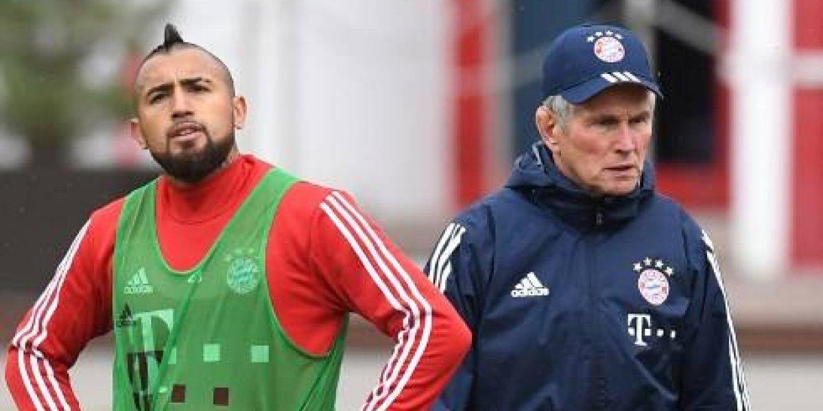 """DT del Bayern a Arturo Vidal: """"Le exijo mucho más de lo que ha demostrado"""""""