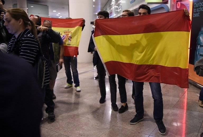 Manifestantes pro España