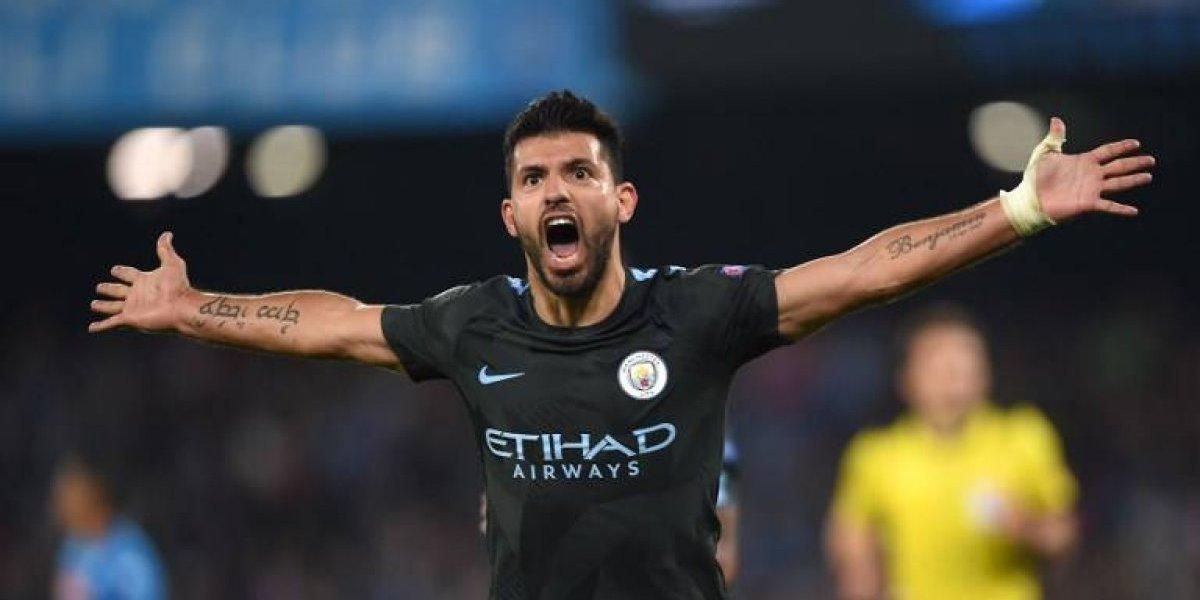De la mano del histórico Agüero el City venció al Napoli y clasificó en Champions
