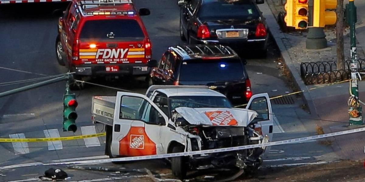 """Estados Unidos: al menos 8 muertos en atropello múltiple en Manhattan calificado de """"acto terrorista"""" por el alcalde de Nueva York"""