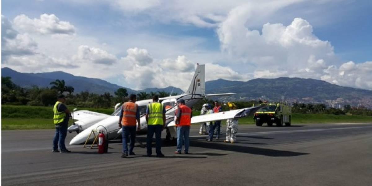 Aterrizaje de emergencia se presentó en Medellín