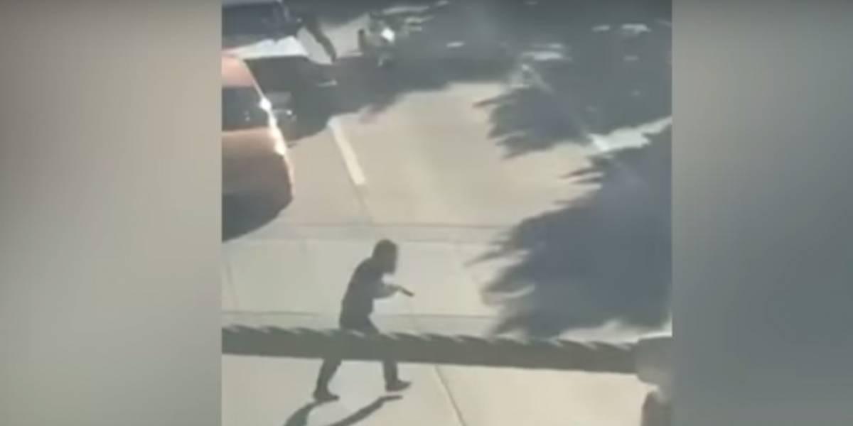 En video quedó registrado el momento en que atacante de Nueva York huía de la escena