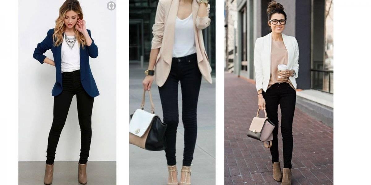 blazer jeans negros