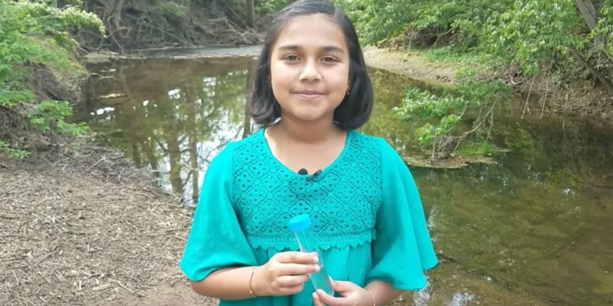 Menina de 11 anos vence prêmio com sensor que detecta chumbo na água