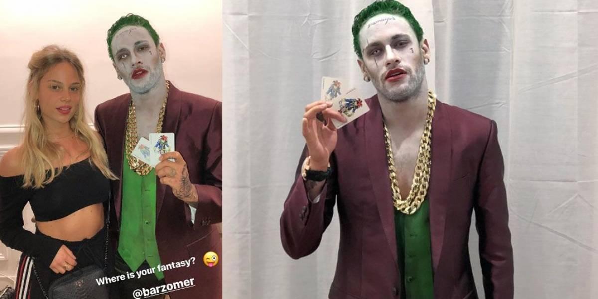 Neymar se fantasia de 'Coringa' e aparece ao lado de modelo em festa de Halloween