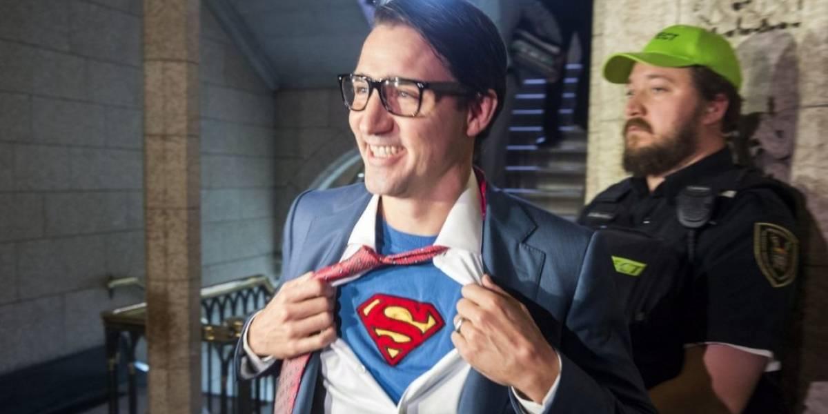 Primeiro-ministro do Canadá usa fantasia de Clark Kent e faz sucesso na web
