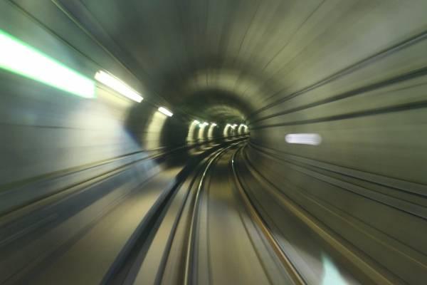 Foto tomada desde el primer vagón del Metro