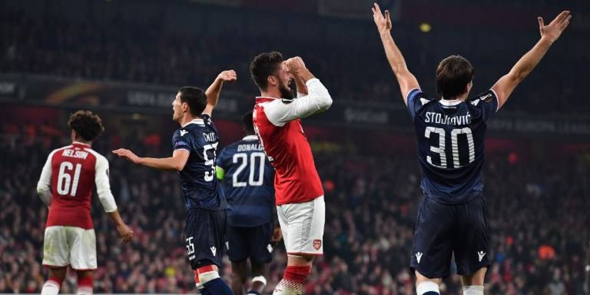 Faltó Maravilla: Arsenal no pasó de un pobre empate ante Estrella Roja que los clasificó de ronda