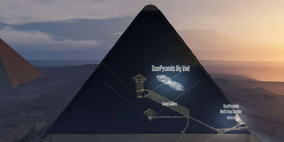Descubren 'hueco' del tamaño de un avión dentro de Pirámide de Egipto