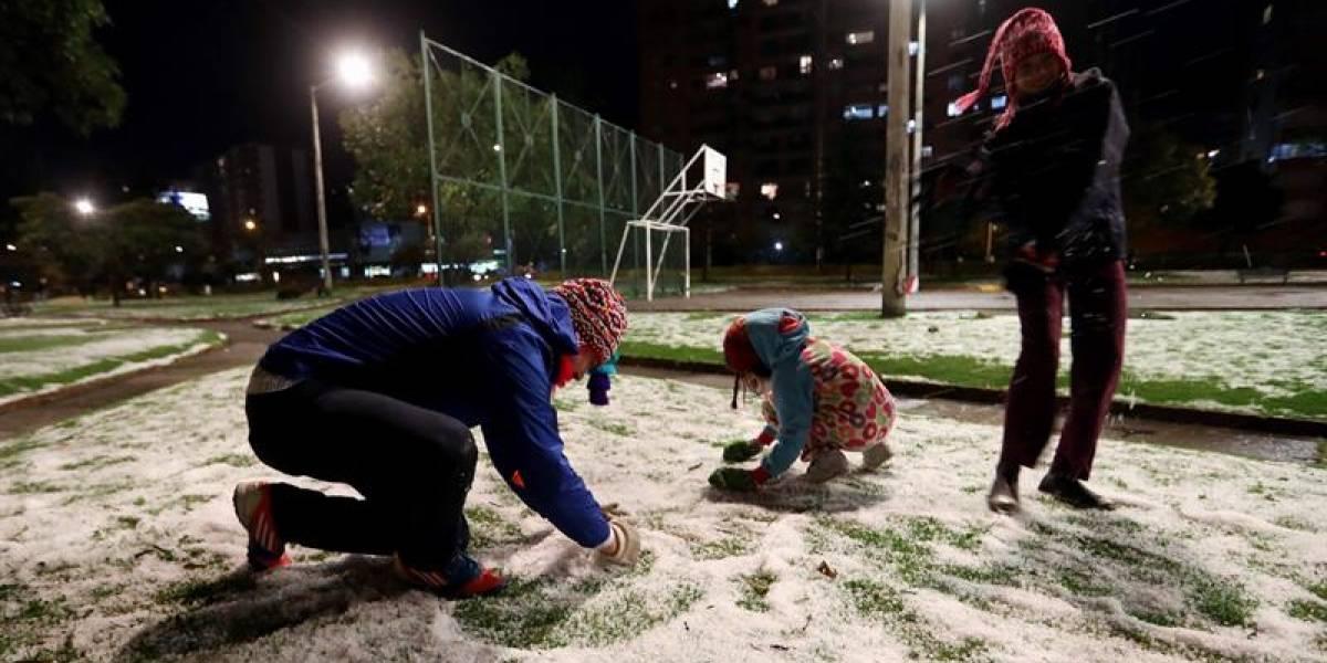 Limpie sus techos y terrazas: Ideam prevé granizo en Bogotá