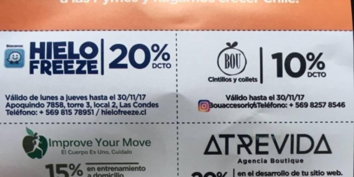 """Acusan por """"cohecho"""" a candidata a diputada UDI por Las Condes: regala cupones de descuento en su propaganda electoral"""