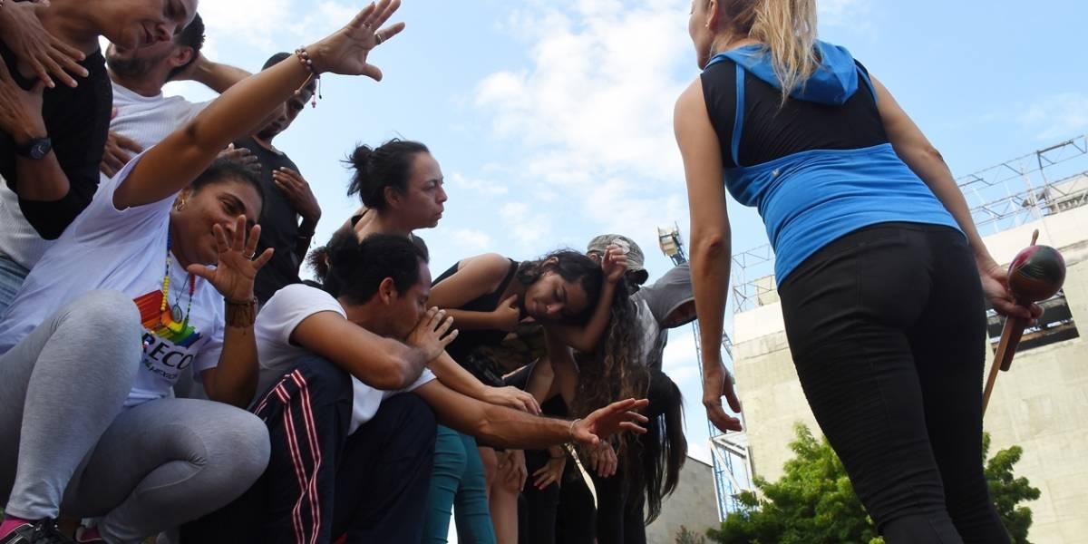 Con coreografía aérea celebran Festival Vitrina de la Danza en Barranquilla
