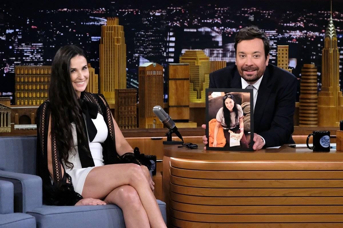 Demi Moore y Jimmy Fallon