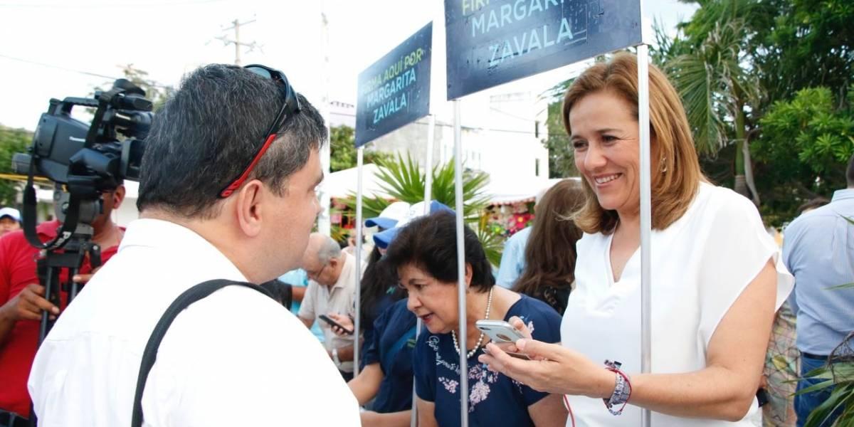 Margarita Zavala buscará firmas en 100 módulos instalados en el país